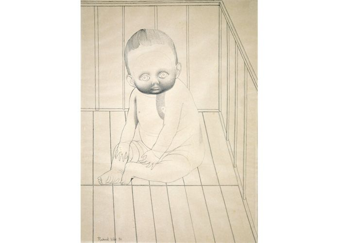 Richard Wilt | Baby Seated in Crib