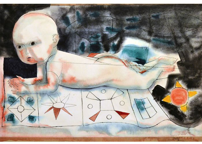 Richard Wilt | Baby on Quilt
