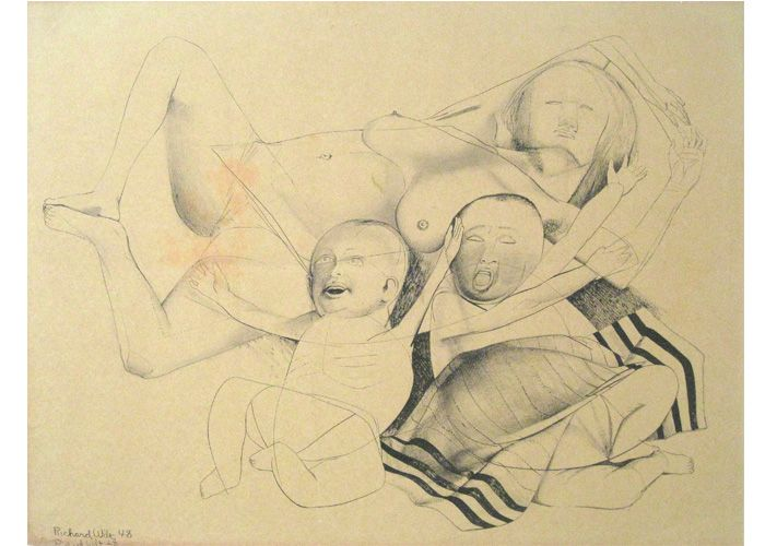 Richard Wilt | Mother with Twin Babies