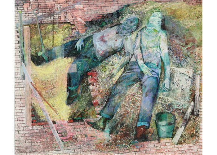 Richard Wilt | Sleeping Men and Excavation, 1950