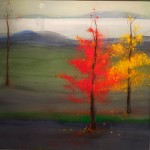 "Lesa Chittenden Lim | Autumn Song II | Watercolor and pastel | 26"" x 26"""