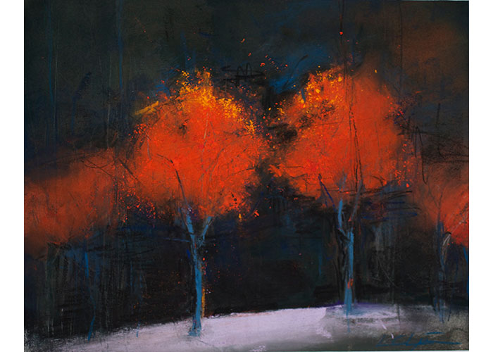 "Lesa Chittenden Lim | Blaze of Orange | Pastel | 21"" x 25"""