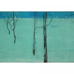 "Lesa Chittenden Lim | Green into Blue | Color etching | 19.5"" x 31"""