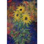 "Boisali Biswas - Sunflower | Woven Painted Wallpaper | 12"" x 30"" 