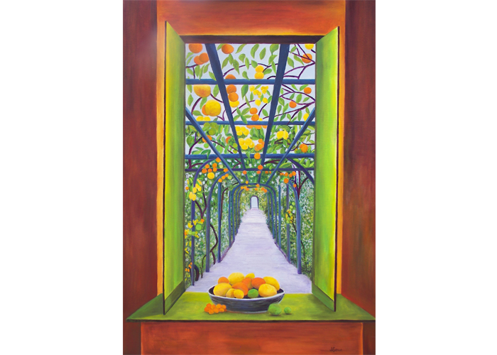 "Judith Enright - Citrus Connection | Oil On Canvas | 52"" x 36"" 