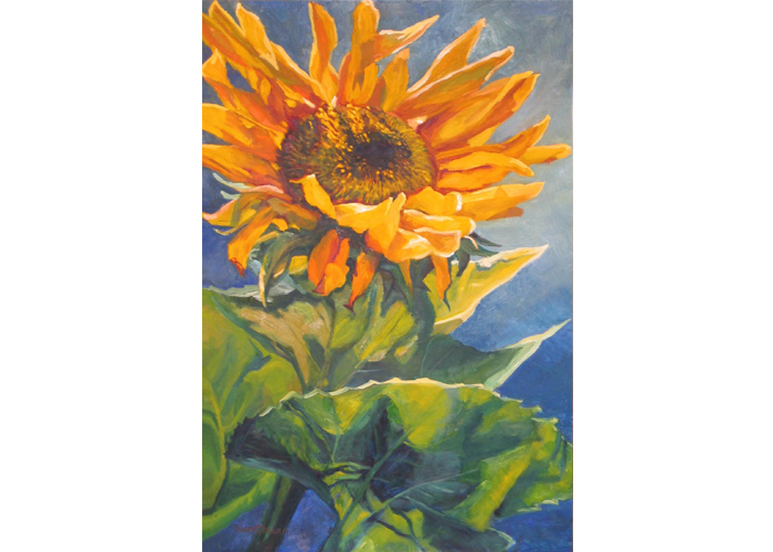 "WanChuan Kesler - Sunflower | Oil on Canvas | 36"" x 24"" 