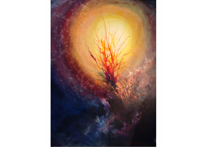 "Katherine Larson - Vessel 2 | Acrylic on Board | 24"" x 18"" 