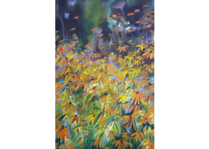 "Felicia Macheske - Black Eyed Susans | Acrylic on Canvas | 36"" x 24"" 