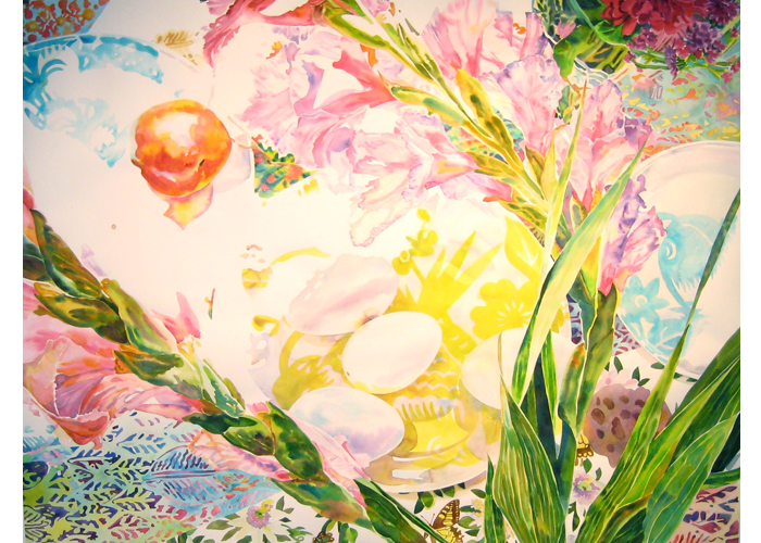 "Maria Ruggiero - One Fruit | Watercolor on Paper | 50"" x 63.5"" 