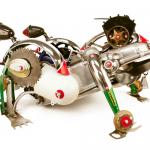 John Schwarz | Stryker | Found object assemblage | 17″ x 22″ x 31″