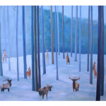 "Judy Enright - Longing | oil on canvas | 40"" x 56"" 