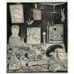 "Lydia Aikenhead - Still-life | intaglio print | 10"" x 12"" 