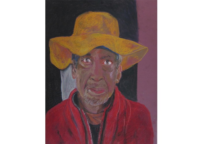 "Marcia Polenberg - Homeless Man | oil pastel | 24.5"" x 19.5"" 