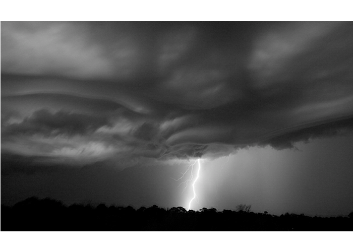 "Steve McMahon - Summer Lightning Strike | photography, archival digital print | 22"" x 32"" 
