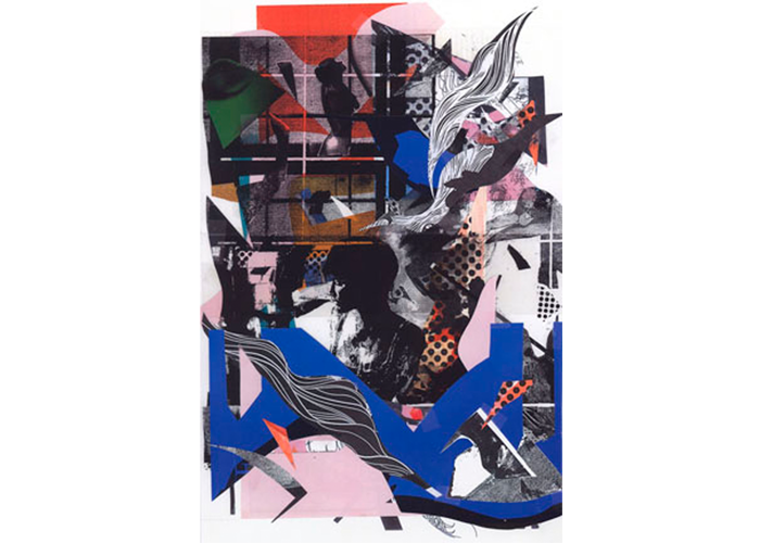 "Ted Ramsay - Thinking of You | mixed media collage print | 40"" x 30"" 